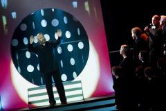 …w której Andrzej Borzym po raz pierwszy… Fot. Teatr Syrena (zdjęcie z premiery rodzinnej)