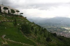 Monte Cassino - widok na dolinę spod klasztoru. Foto: Piotr Maculewicz