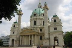 Kościół św. Karola Boromeusza, arcydzieło wiedeńskiego baroku. Foto: Iwona Januszkiewicz-Rębowska