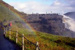 Wodospad i jego tęcza - nierozłączni. Foto: Anna Dudkowska