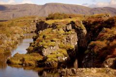 Wypełnione wodą skalne rozpadliny... Foto: Anna Potapowicz
