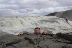 Dżunior - autoportret z wodospadem. Foto: Andrzej Borzym jr