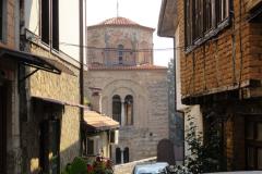 Wśród uliczek starej Ochrydy, dawnej stolicy Imperium Bułgarskiego, wyrastają wieże cerkwi św. Zofii… Fot. Ancja Łabuszewska