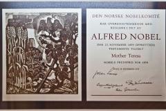 Dyplom Pokojowej Nagrody Nobla. Fot. Artur Mikołajewski