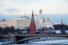 Z mostu tuż obok widok na Kreml... Fot. Piotr Węgiełek