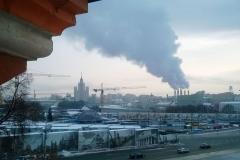 Widok z okna zupełnie nie zabytkowy, niestety – po prostu Moskwa zimą. Fot. Piotr Bocian