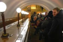 Moskiewskie metro to żywa legenda i jedyny sensowny sposób poruszania się po 12-milionowej metropolii: 12 linii, 333 km długości, 200 stacji, w tym 44 uznane za zabytki rosyjskiego dziedzictwa kulturowego. No to w drogę! Fot. Piotr Węgiełek