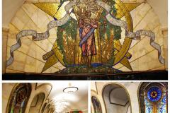 Odpocznijmy nieco... Stacja Nowosłobodskaja (1952) ma 32 podświetlane witraże ze stylizowanymi ludowymi motywami, nieco secesyjne w formie, i mozaikę  Pokój na całym świecie . Fot. Piotr Węgiełek, Katarzyna Jankowska