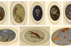 Na suficie 34 iluzjonistyczne mozaiki – cykl  24 godziny radzieckiego nieba . Fot. Ancja Łabuszewska, Iwona Januszkiewicz-Rębowska
