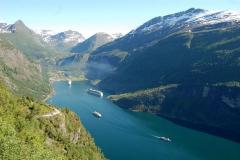 Najpiękniejszy fiord Norwegii – Geirangerfjord, jeden z dwóch na liście Światowego Dziedzictwa UNESCO. Foto: Anna Potapowicz