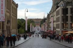 Wracamy do centrum: w perspektywie – Pałac Królewski. Foto: Anna Potapowicz