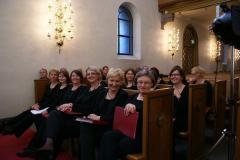 Czekamy, aż kolejną część koncertu zapowie prof. Knut Grimstad, szef katedry polonistyki na Uniwersytecie w Oslo. Foto: Anna Kaczmarek