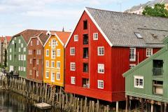 …obecne są na niemal każdej pocztówce z Trondheim. Foto: Piotr Bocian