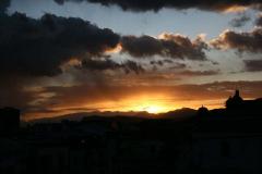 Słońce zachodzi nad Sycylią. Fot. Piotr Boratyński