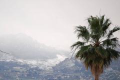 …widać pierwszy tej zimy śnieg w górach Sycylii,… Fot. Anna Potapowicz