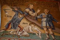 Sceny ze ścian kaplicy: Kain i Abel,… Fot. Anna Potapowicz