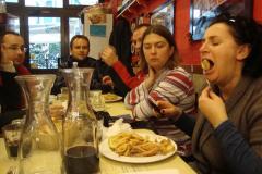 Zjedliśmy bardzo smacznie, wypiliśmy sporo,… Fot. Klaudia Kalita